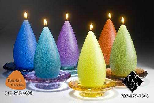 Fire and Light Glass. Recycled glass candle holders.